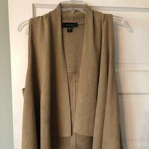 Karen Kane faux suede vest